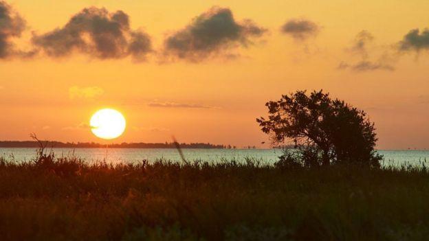 захід сонця на Херсонщині