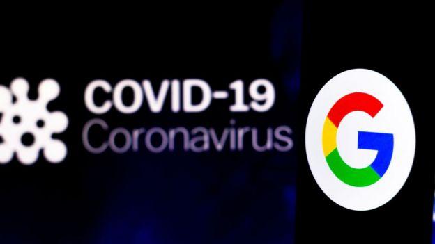 """شعار شركة غوغل يظهر إلى جانب اسم مرض """"كوفيد-19"""""""