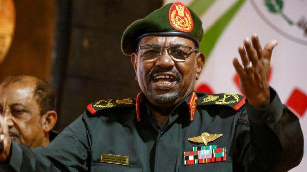 Aliyekuwa rais wa Sudan Omar al-Bashir tarehe 12 Februari , 2019