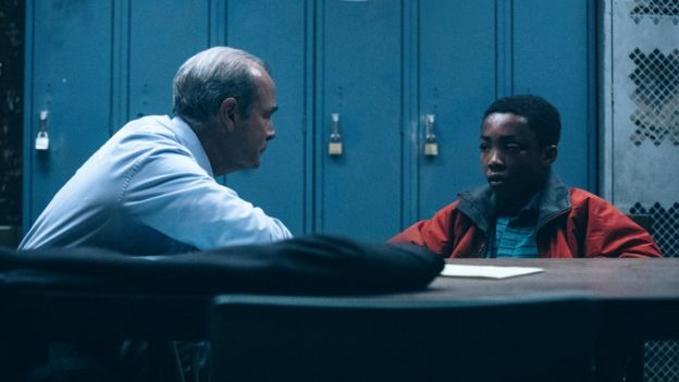 Interrogation scene from the show