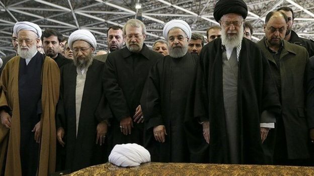 مراسم نماز میت بر جنازه اکبر هاشمی رفسنجانی