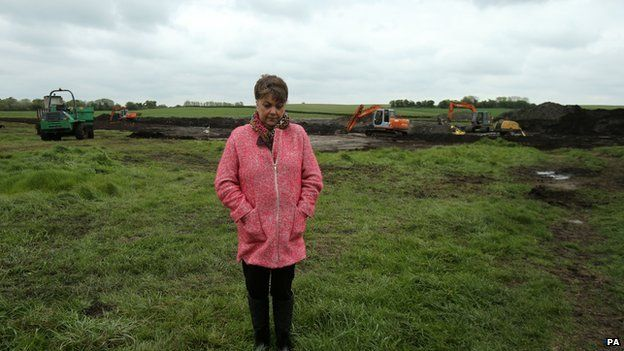 Mr Lynskey's niece, Maria, visited the search site in Coghalstown, County Meath, last month
