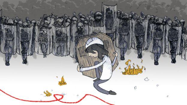 Ilustración de manifestante.