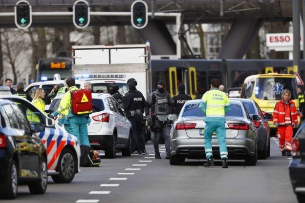Utrecht'te saldırı düzenlenen bölge