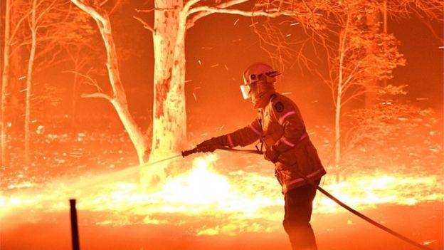 Fires in NSW Australia, December 2019
