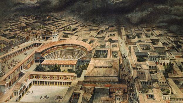 Una ilustración de lo que fue Pompeya