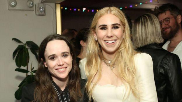 """Ellen Page y Zosia Mamet durante el lanzamiento de """"Tales of the City"""""""