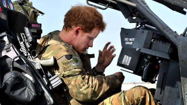 El príncipe Harry en Afganistán en 2012.