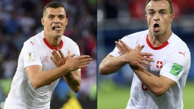 'عقاب دو سر' بازیکنان تیم ملی سوئیس جنجال آفرین شد