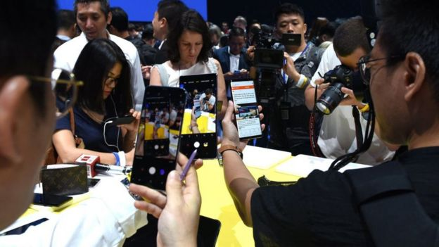 Samsung unveils its Galaxy Note 9 at an event in Brooklyn, New York. 9 Aug, 2018