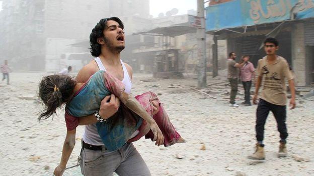 Bombardeos en Alepo, Siria