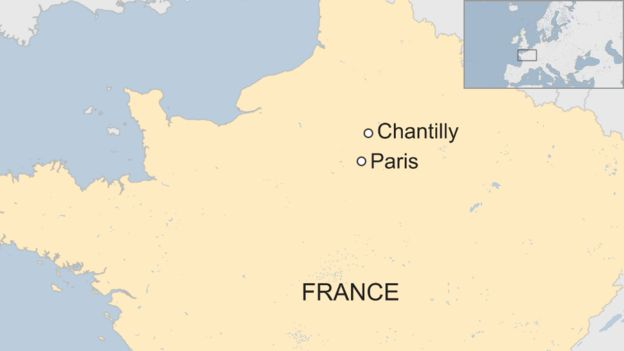 map showing chantilly
