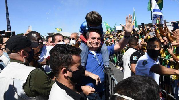 Bolsonaro em manifestação
