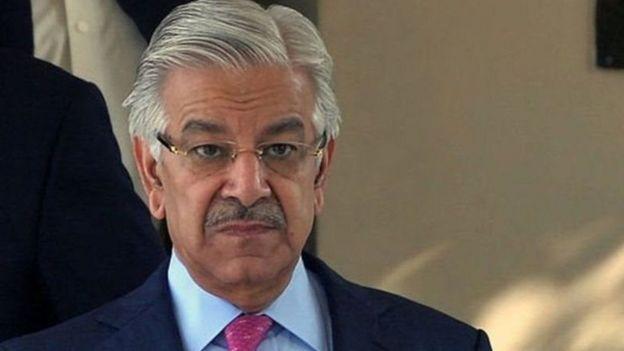 पाकिस्तान के रक्षा मंत्री ख्वाजा आसिफ