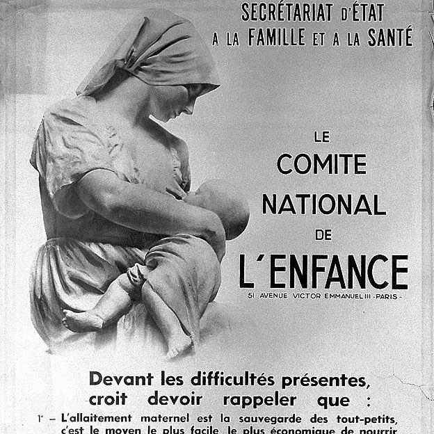 Poster promoviendo dar pecho en Francia