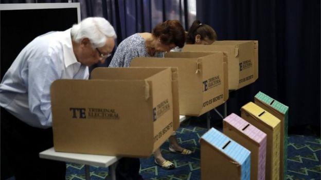 Votantes en Panamá