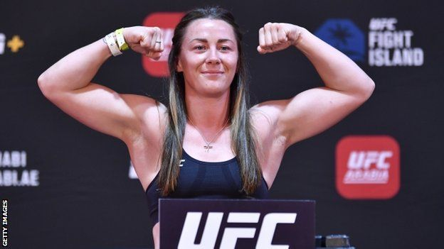 Molly McCann at her weigh-in for Fight Island