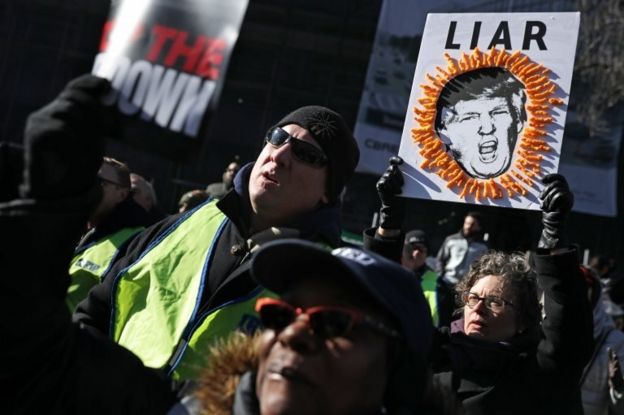 Washington'da düzenlenen Trump karşıtı gösteri