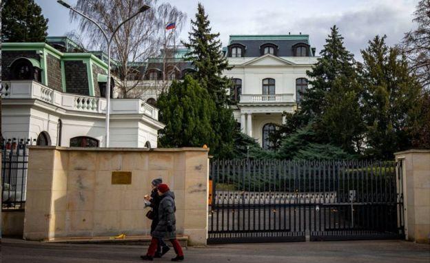 Russian embassy, Prague, 27 Feb 20