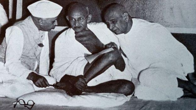 पटेल, गांधी और नेहरू