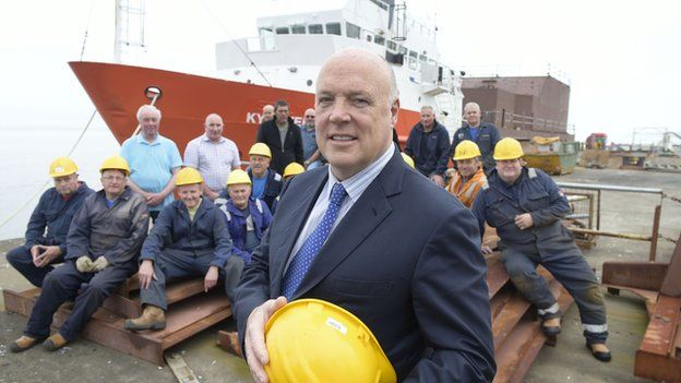 Jim McColl at Ferguson shipyard