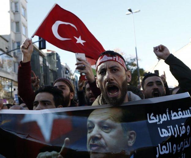 Протесты против решения Трампа прошли в Стамбуле