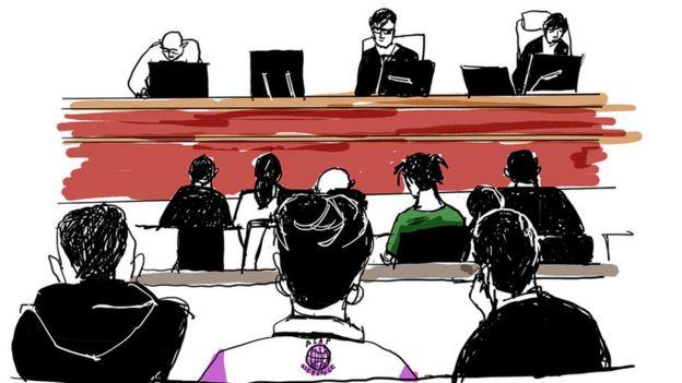 ASAP Rocky trial sketch