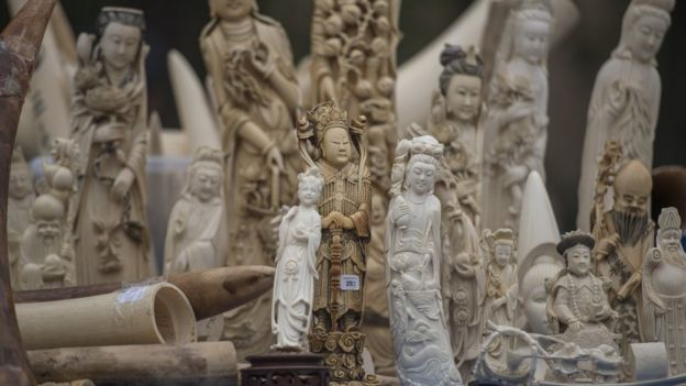 6ecdde2d5 Ivory statues about to be destroyed in China (file image)