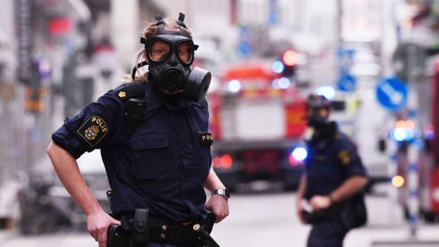 Policía en Suecia responde al incidente en Estocolmo