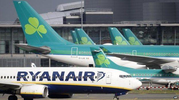 Ryanair and Aer Lingus planes