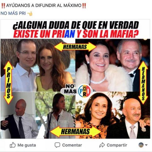 Una imagen viral con información falsa sobre Ricardo Anaya
