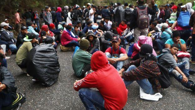 Inmigrantes procedentes de Honduras se formaron en caravana el pasado mes de enero