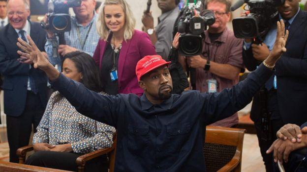 Kanye West en la Oficina Oval