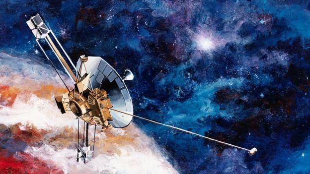 Dibujo de la sonda Pioneer