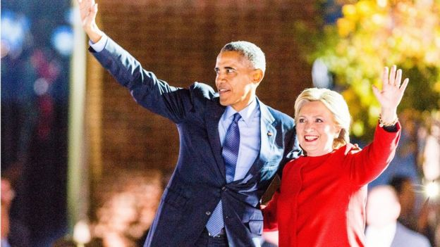 Tổng thống Obama và bà Hillary