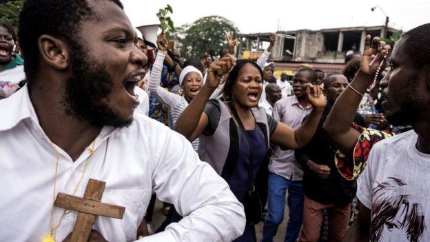 Congolese demonstrate against President Kabila