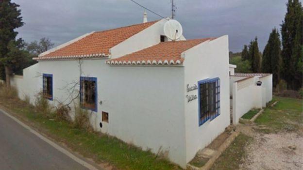 Undatiertes Dokument des Bundeskriminalamtes in Deutschland eines mit dem Verdächtigen verbundenen Hauses in Portugal.