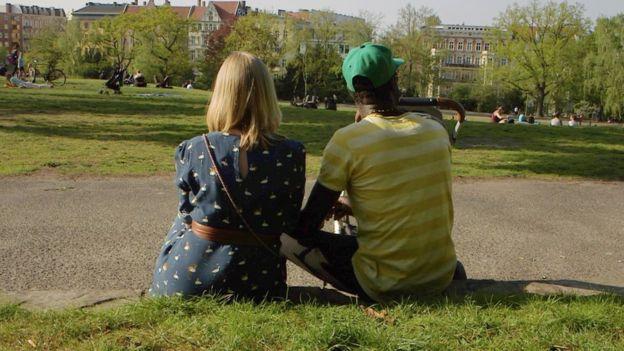 Nina and her Ugandan husband, who moved to Berlin in 2017