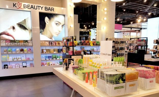 The K-Beauty Bar concession stand at Topshop, Oxford Street