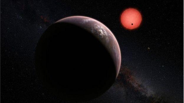 Una ilustración de un exoplaneta