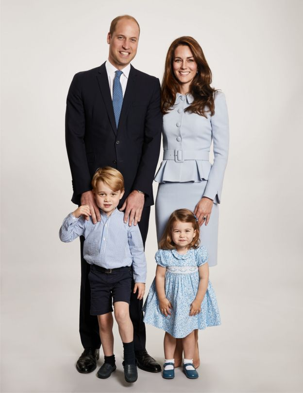 Prince William, the Duchess of Cambridge, Prince George and Princess Charlotte
