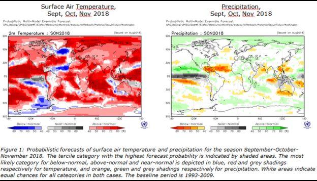 WMO forecast