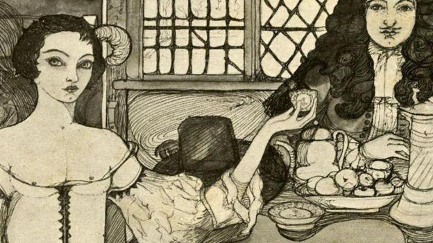 Saray çevresindeki zengin kadınlar Catherine'in çay içişini taklik ediyordu.