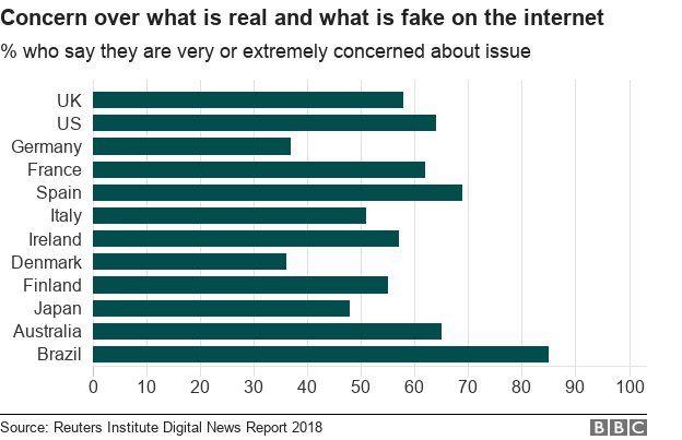 Kekhawatiran terkait dengan kebenaran dan kepalsuan di internet.