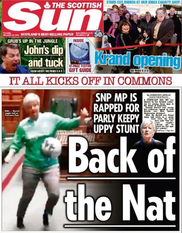 The Papers Football In The Commons And Dundee Jobs Boost Bbc News