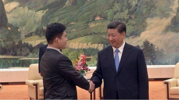 王炳忠曾受到習近平的接見