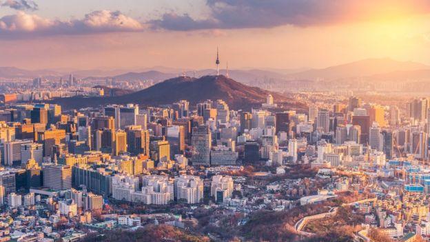 Paisaje de Seúl, capital de Corea del Sur.