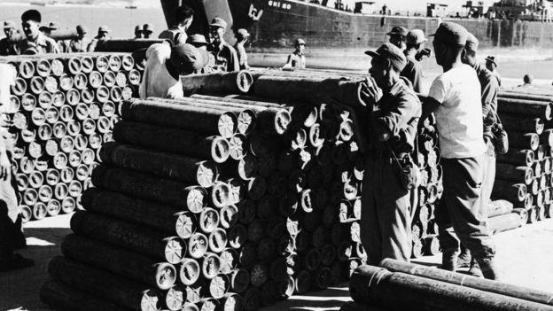 1954年处于备战状态的金门。