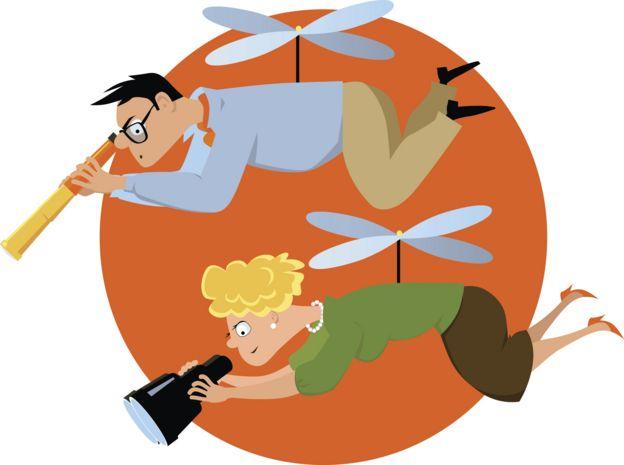 """Ilustración de """"padres helicóptero"""""""