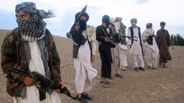 2008 - Taliban fighters in Maidan District, Wardak Province